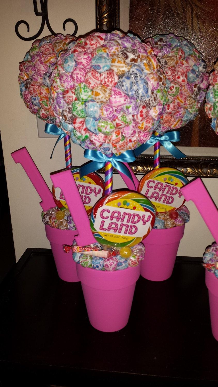 Candy Land Dum Dums Topiary Centerpiece Etsy