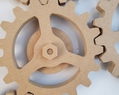 5 In. Kinetic Magnetic Mounted Gear Moving Kinetic Cogs three spokes