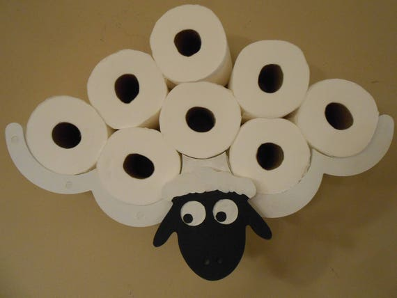Toilet Paper Holder Unique Clever Sheep TP Rack Bathroom Decor Etsy Enchanting Paper Dispensers Bathroom Style