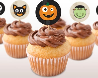 Halloween Favor Tags or Cupcake Toppers