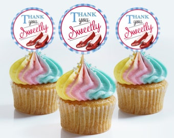 Wizard of Oz Favor Tags or Cupcake Toppers