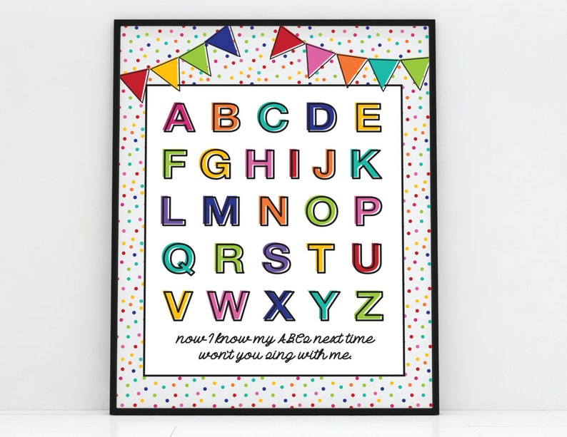 graphic relating to Alphabet Poster Printable identify ABC Poster - Printable - 11\