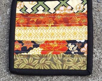Fabric coffee coaster, coffee cup coaster, mug rug, candle mat, condensation catcher