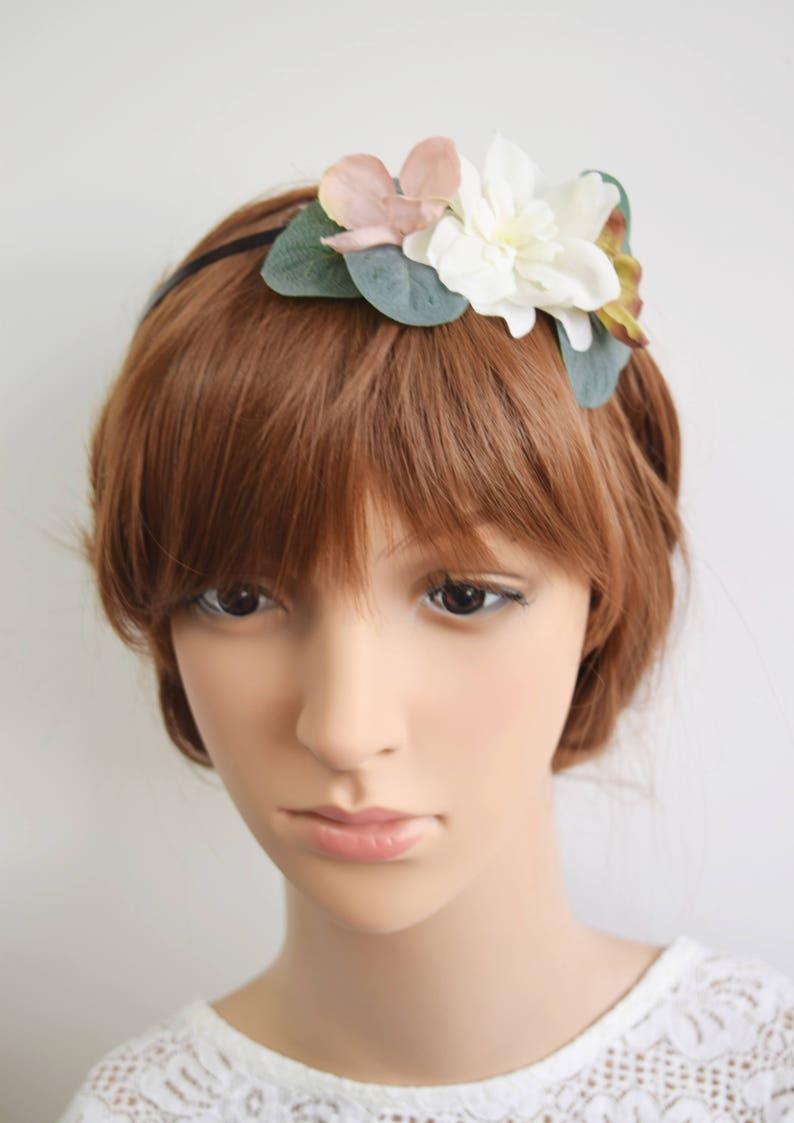 bridesmaid headband flowergirl headband bridal headband spring wedding Spring Flower headband bridal headpiece bridal flower crown