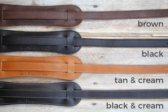 GS25 Leather Guitar Strap with shoulder pad