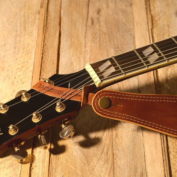 2x Guitar Strap Headstock Loop, high quality leather, quick release, colour choice, guitar strap tie, guitar strap neck connector