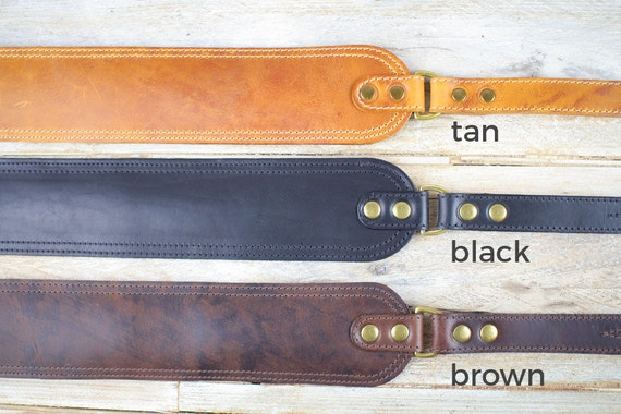 GS47 Leather Guitar Strap or Bass Strap