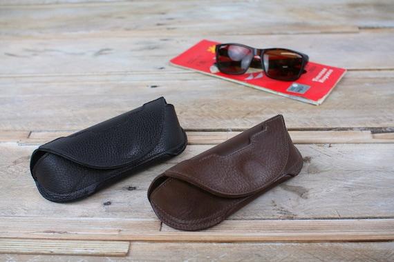 Leather Spectacles Case, Eyelasses Case, Sunglasses pouch, specs case, glasses pouch, driving glasses (Art Deco style)