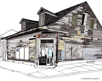 Wooden Creole House New Orleans Art Print