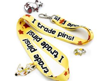 I Trade Pins! Enamel Pin Trading Lanyard