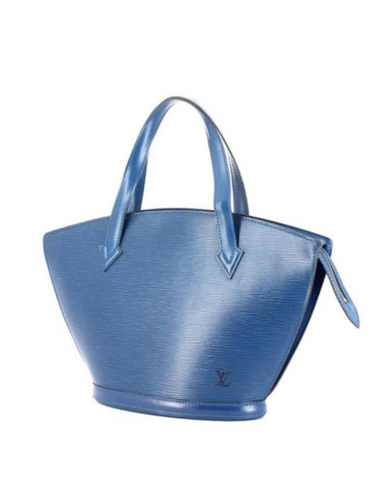 1b0a0f604ee8 SALE LOUIS VUITTON Saint Jacques handbag blue epi leather