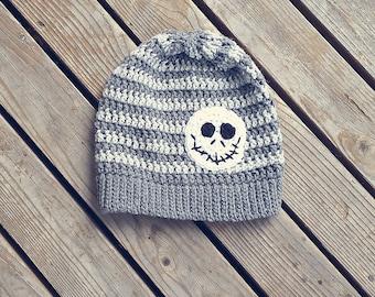 Jack Skellington inspired slouchy hat