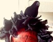 Floral Crown,Sugar Skull,Dia de Los Muertos, Black roses headdress,Crow headdress,black bird headband,Day of the Dead,floral headdress,Goth