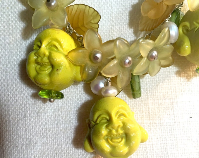 Golden Buddha Garden Party, spiritual flowers, Buddha, Spring Delights, Yoga jewels,