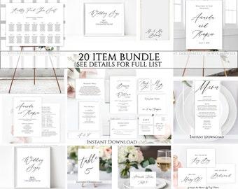 simple wedding invitation template etsy