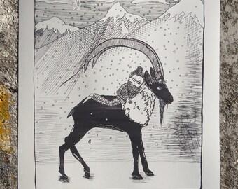 Dream of Krikri, silkscreen print