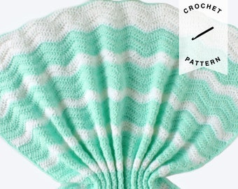 CROCHET PATTERN: Summer Waves Baby Blanket | crochet baby blanket, pattern, digital download, handmade, summer blanket pattern, baby gift