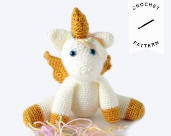 CROCHET PATTERN: Aurora the Unicorn Crochet V2 | crochet pattern, stuffed animal, amigurumi pattern, plushie, unicorn, digital download