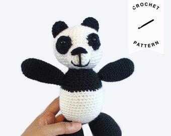 CROCHET PATTERN: Pudge the Panda Bear | crochet bear, stuffed animal, amigurumi pattern, crochet toy, handmade, panda, digital download, PDF