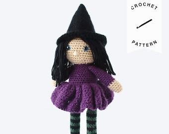 CROCHET PATTERN: Magda the Witch | crochet witch, stuffed animal, amigurumi pattern, crochet toy, handmade, amigurumi, digital download