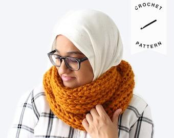 CROCHET PATTERN: Claire Infinity Scarf | crochet pattern, cowl, infinity scarf, crochet scarf, chunky scarf, handmade, PDF pattern, crochet