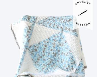 CROCHET PATTERN: Pascal Baby Blanket | crochet baby blanket, pattern, digital download, handmade, c2c blanket pattern, baby gift