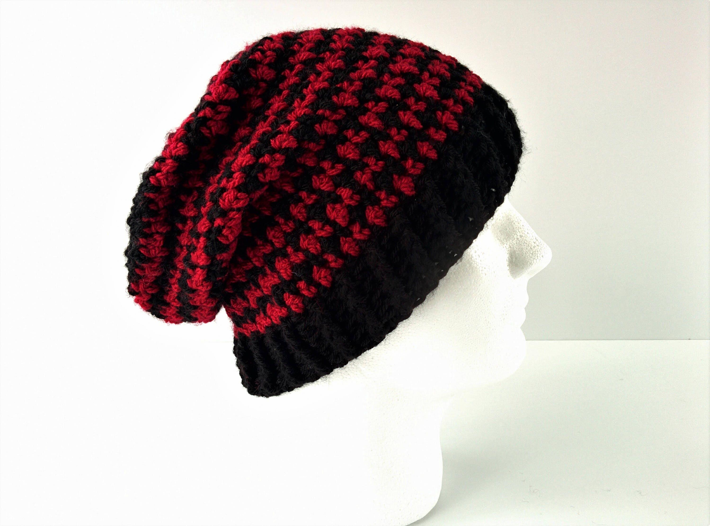 Crochet Pattern Houndstooth Beanie Handmade Crochet Hat Etsy