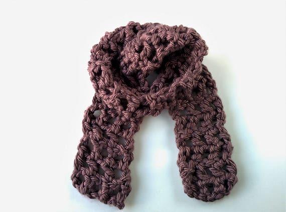 Crochet Pattern Bulky Mesh Scarf Crochet Scarf Pattern Easy