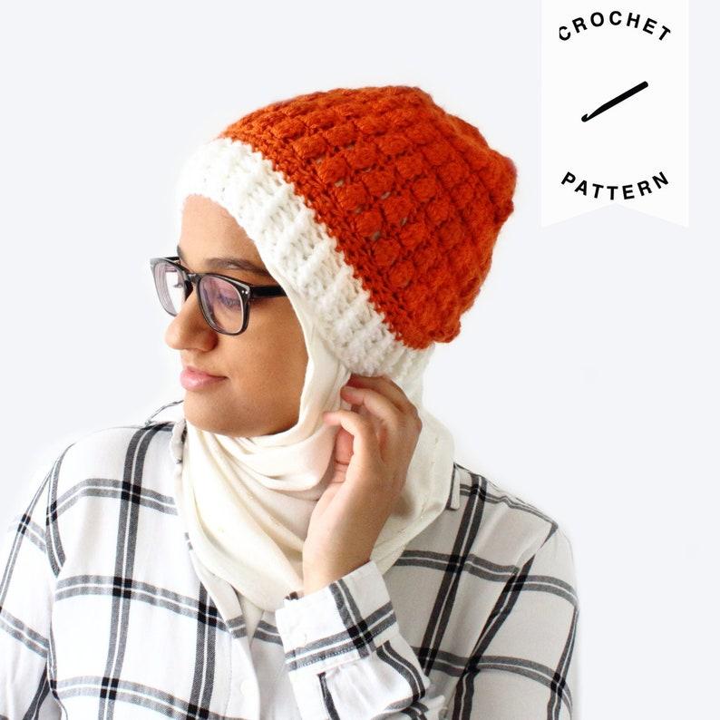 CROCHET PATTERN: Pumpkin Spice Beanie  handmade crochet hat image 0