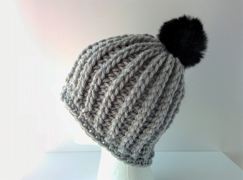 cce54c5f80bc36 CROCHET PATTERN: Chunky Ribbed Beanie handmade crochet   Etsy