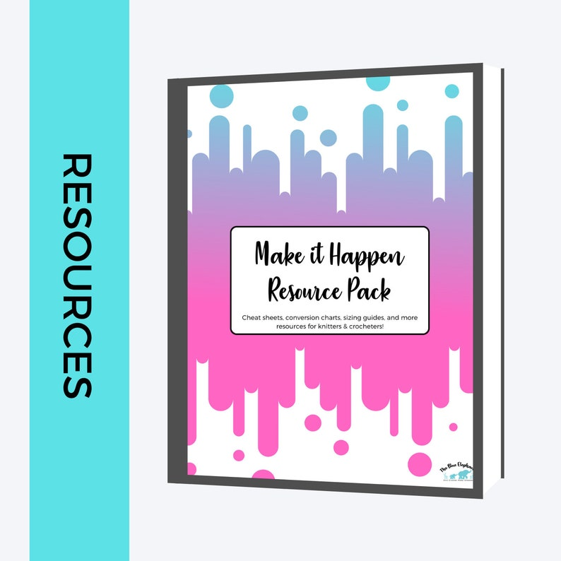 Make it Happen: Resource Pack PINK VERSION Knitting Crochet image 0