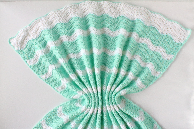 Crochet Pattern Summer Waves Baby Blanket Crochet Baby Etsy