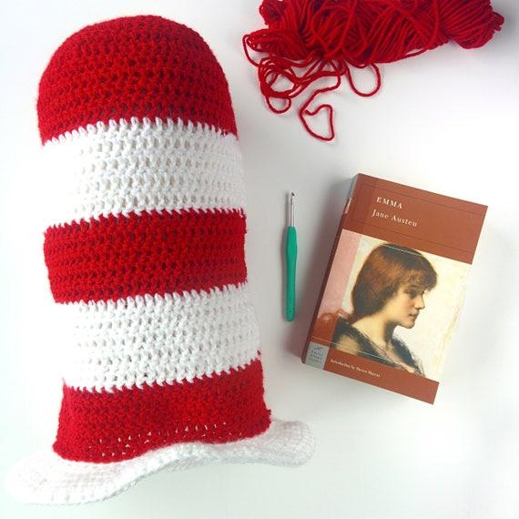 CROCHET PATTERN: Cat in the Hat   handmade crochet hat