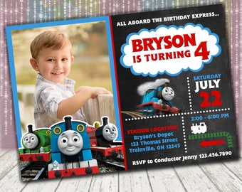 Thomas train invites Etsy