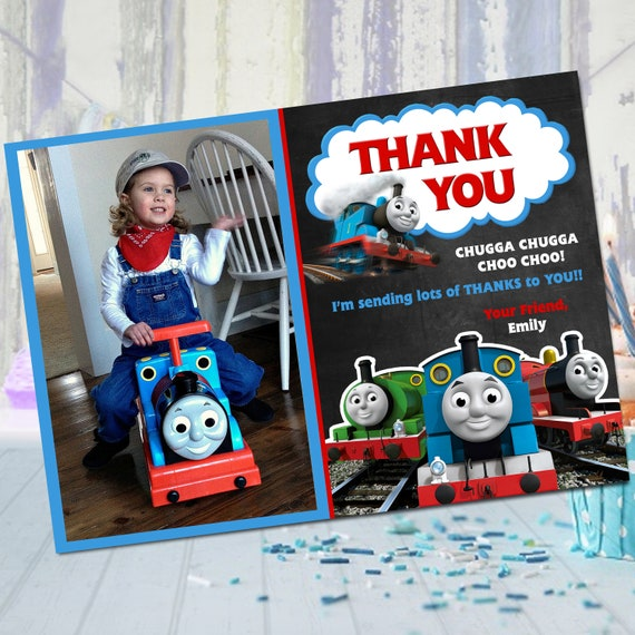 Thomas And Friends Thank You Cards Thomas The Train Thank Etsy