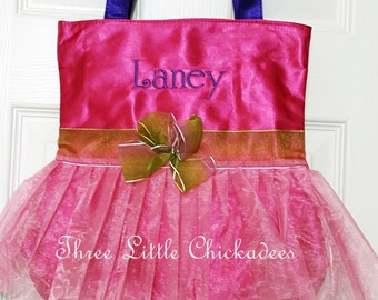 Tutu Cute Dance Tote Satin Personalized Dance Bag Recital Ballet Tote  Flower Girl Gift Birthday Gift Dance Recital Girls Dance Tutu Bag 2500e9fc17b22