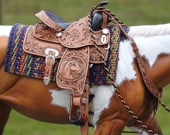 Bridle Black New Dollhouse Miniature Cowboy Western Horse 1:12 Rodeo Texas Tack