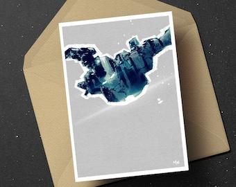 Iron Man War Machine birthday greeting card, Marvel Comics geek unique superhero gift for him her, boyfriend girlfriend movie fan