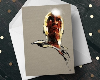 WandaVision Vision Paul Bettany birthday greeting card, Marvel Comics unique gift for her him, boyfriend girlfriend wife movie fan