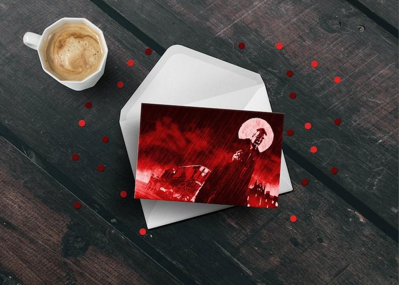 Dracula birthday greeting card Halloween goth vampire movie image 0
