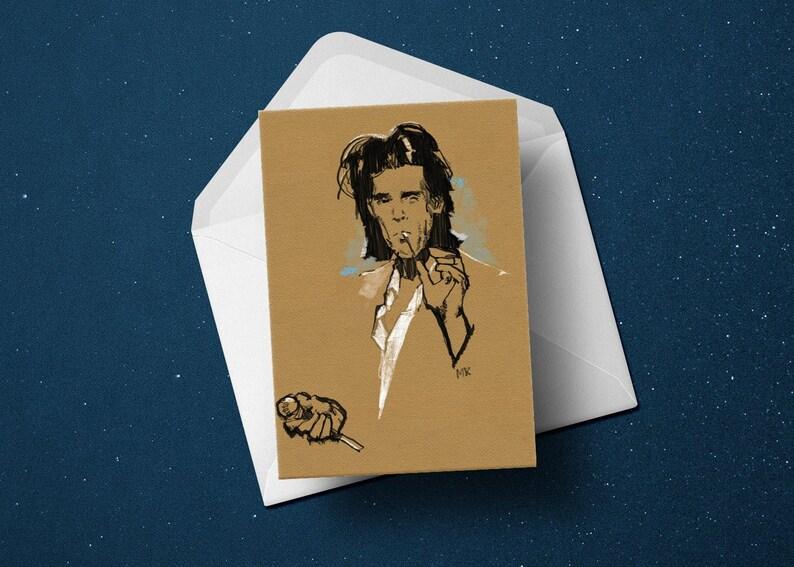 Nick Cave birthday greeting card Bad Seeds Grinderman image 0