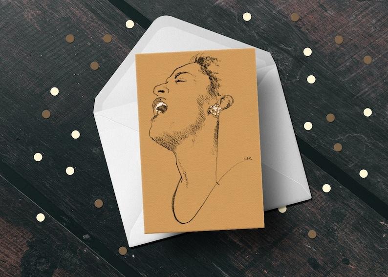 Billie Holiday birthday greeting card blues jazz music fan image 0