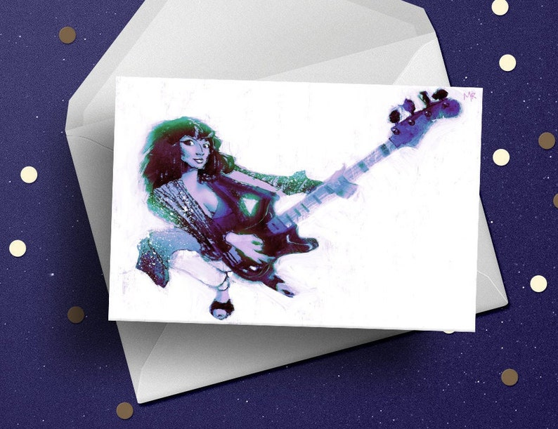 Kate Bush birthday card 70s vintage pop icon music fan image 0