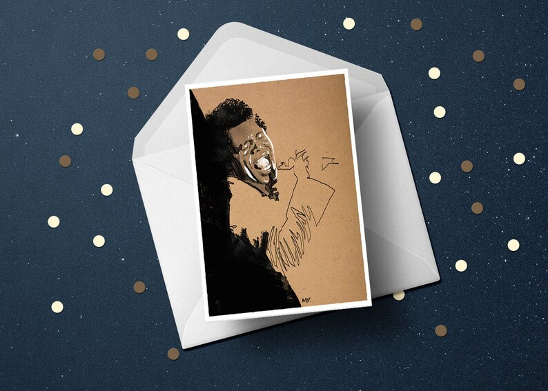 James Brown birthday greeting card 60s 70s funk soul music image 0