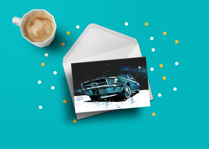 Ford Mustang birthday greeting card Shelby GT vintage car image 0