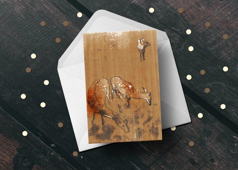 Deer fawn woodland animal birthday greeting card unique image 1