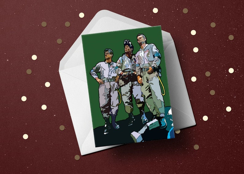 Ghostbusters Birthday Card retro movie greeting 80s film image 0