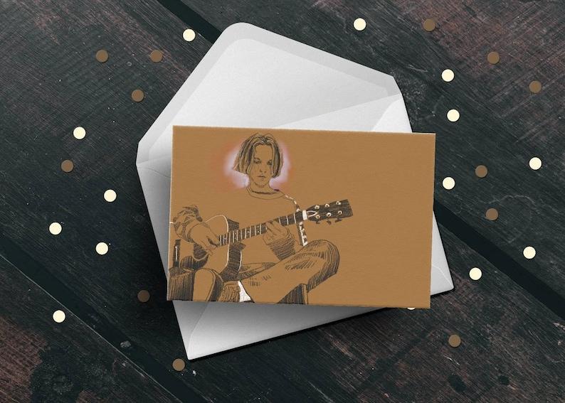 Beck birthday greeting card 90s Odelay singer songwriter image 0