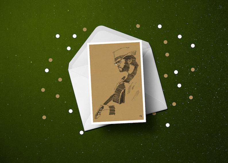 Neil Young birthday greeting card folk rock music guitar image 0