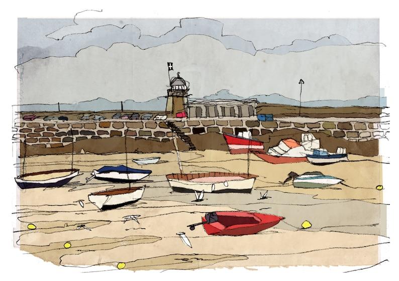 Cornwall St Ives birthday greeting card seaside beach harbour image 0